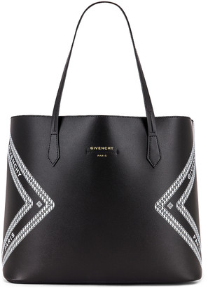 Givenchy Wing Shopping Bag in Black & White   FWRD