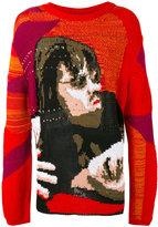 Off-White face pattern jumper - men - Cotton/Polyamide - S