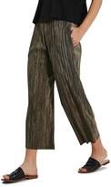 Topshop Plissé Pleat Crop Trousers