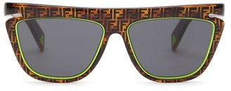 Fendi D-frame Ff Tortoiseshell-acetate Sunglasses - Womens - Brown