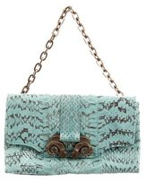 Derek Lam Bicolor Snakeskin Handle Bag