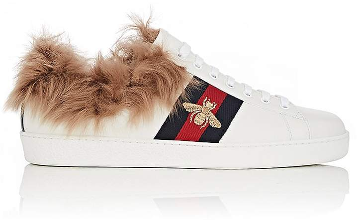 Gucci Men's New Ace Fur-Lined Sneakers