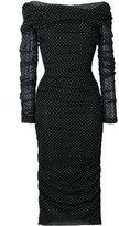 Dolce & Gabbana polka dot evening dress