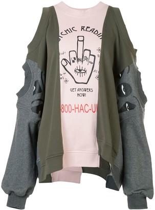Haculla Connexion deconstructed sweatshirt