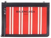 Balenciaga Canvas And Leather Shoulder Bag