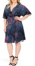 Standards & Practices Candice Floral Wrap Dress