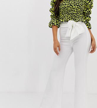 John Zack Petite bootcut trouser in white