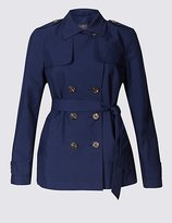 M&S Collection Belted Trench Coat with StormwearTM