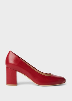 Hobbs Lucy Wide Fit Leather Block Heel Court Shoes