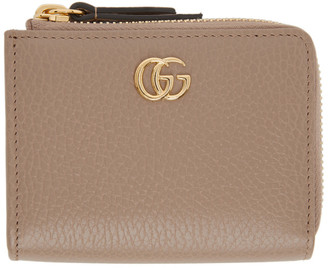 Gucci Taupe Small Marmont Card Holder