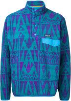 Patagonia ethnic pattern sweatshirt - men - Polyester - XS