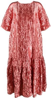 Rochas Lame Crinkled Tunic Dress