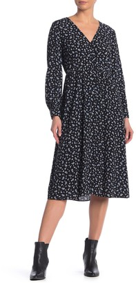 Madewell Button Front Floral Print Dress