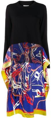 Maison Margiela Scarf-Skirt Jumper Dress