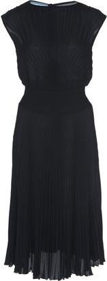 Prada Plisse Midi Dress