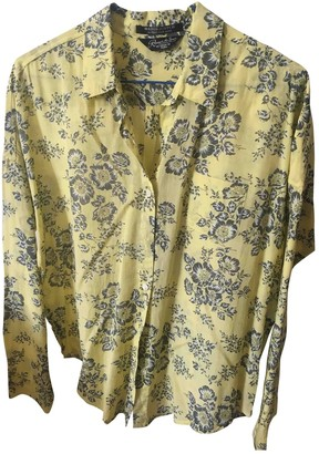 Maison Scotch Yellow Silk Top for Women
