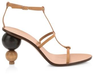 Cult Gaia Eden Ball-Heel Leather Sandals