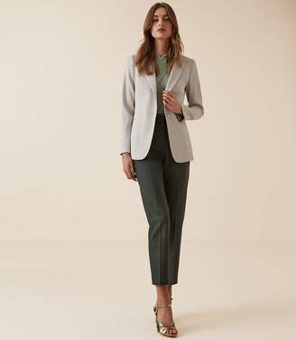 Reiss NEYA JACKET TEXTURED TAILORED BLAZER Ice Blue