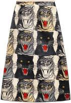 Gucci Tiger Face silk skirt