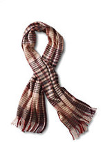 Classic Women's Brushed Plaid Scarf-Soft Pink Plaid