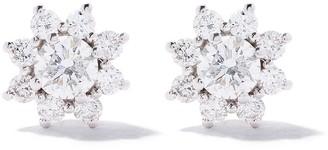As 29 18k white gold diamond Star Cluster stud earrings