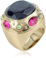 A-Z Collection Large Crystal Stone Ring
