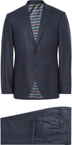 Etro - Blue Slim-fit Prince Of Wales Checked Wool Suit