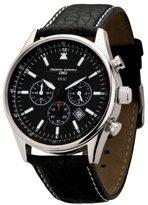 Jorg Gray Men's Quartz Watch JG6500 Non Commemorative Edition with Italian Buffalo Grain Leather Strap