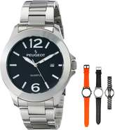 Peugeot Men's 699 Watch Featuring Interchangeable Bands