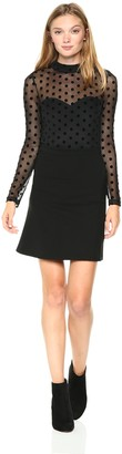 French Connection Women's Leah Mesh Jersey Dress
