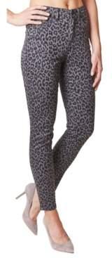 Nicole Miller Soho Leopard-Print High-Rise Skinny Jeans