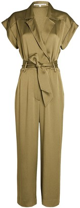 Veronica Beard Ophelia Belted Short Sleeve Jumpsuit