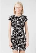 Select Fashion Fashion Womens Black Soft Aztec Mini Bodycon Dress - size 6