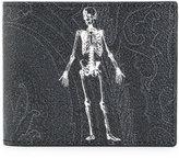 Etro skeleton print bifold wallet