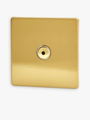 Varilight 1 Gang V-pro LED Remote Control Dimmer Switch, Brushed Brass