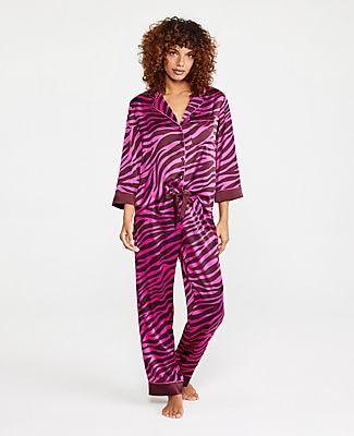 Ann Taylor Zebra Print Silky Pajamas