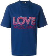 Love Moschino embroidered logo T-shirt