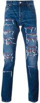 Alexander McQueen distressed effect jeans