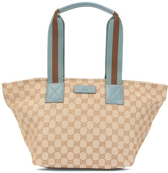 Shelly Line GG Hand Tote Bag