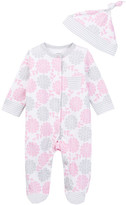Offspring Floral Footie & Hat (Baby Girls)