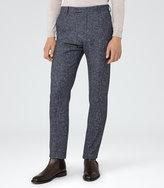 Reiss Reiss Turner T - Flecked Slim Trousers In Grey