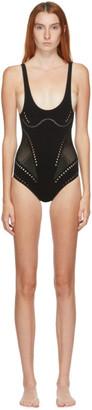 Stella McCartney Black Stellawear Tank One-Piece Swimsuit