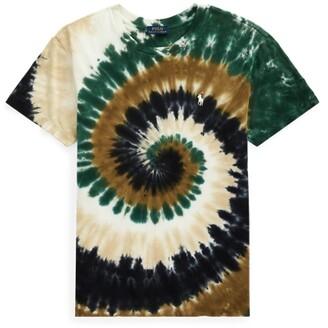 Ralph Lauren Big Fit Spiral Tie-Dye Tee