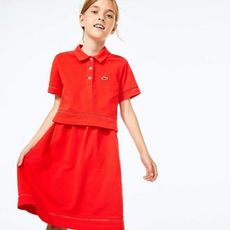 Lacoste Girls Cotton Petit Pique Polo Dress