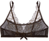 Hanky Panky Rose D'or Lace And Stretch-mesh Soft-cup Bra - Black