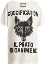 Gucci Wolf head printed cotton T-shirt