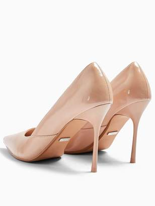 Topshop Wide Fit Georgia High Heel Court Shoes - Nude