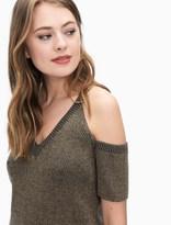 Splendid Surrey Marl Cold Shoulder Pullover