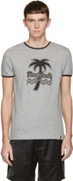 Marc Jacobs Grey Palm Tree Ringer T-shirt