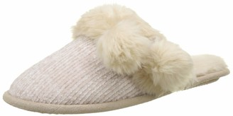 Boux Avenue Women's Chenille POM Mule Open Back Slippers
